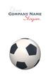 Soccer ball against white background