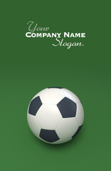 Soccer ball against green background