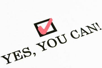 はい チェックボックス yes you can