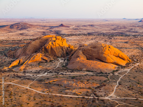 Poster View from Pondoks in Spitzkoppe area