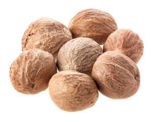 nutmeg Isolated on white background