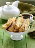 traditional Italian biscotti cookies (cantucci)