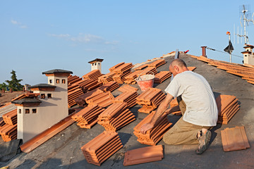 roof tiles installation