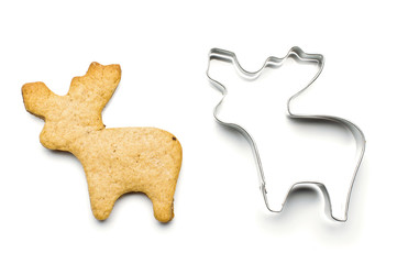 elk shape cookie and tin baking shape