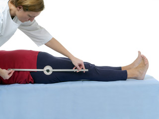 Measurement of hip joint flexion
