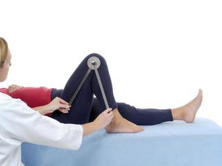 Measurement of knee joint flexion