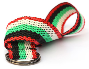 Belt made of synthetic thread
