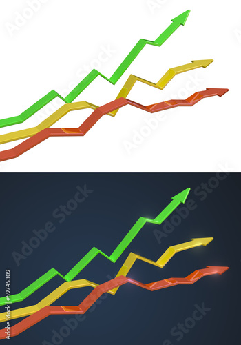 growth arrows