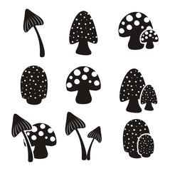 mushroom pictogram sets