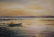 Quadro Sunset on a lake.