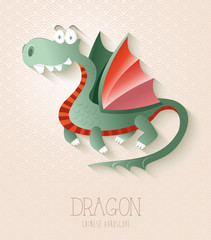 Chinese zodiac set Year of the Dragon