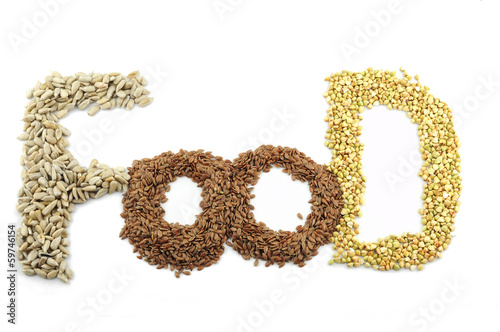 Cereals and seeds are the healthy food