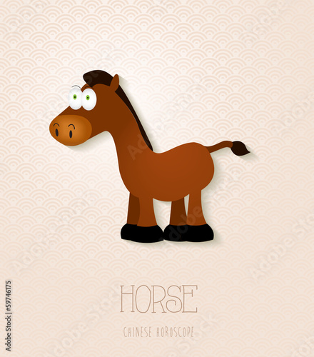 Chinese zodiac set Year of the Horse