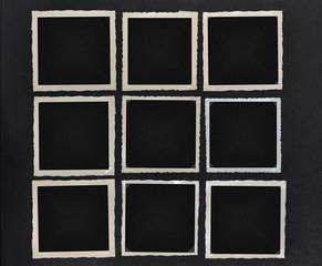 Fotorahmen alte schwarzweiß Fotos Quadrat
