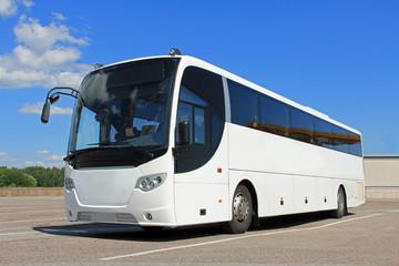 White Bus in Summer