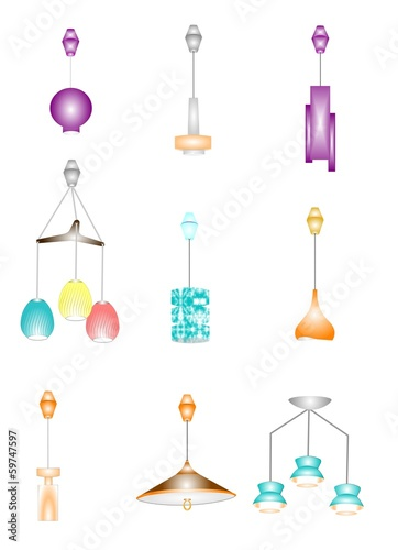 retro pendant retractable ceiling lamps