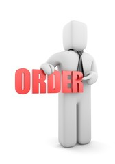 Businessman with order