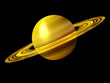 ������, ������: Saturn Planet in Gold