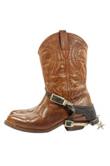 Western boots and spurs