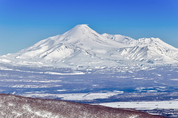 Volcanoes of Kamchatka Peninsula, Russia.