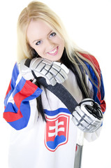 Slovakian ice hockey fan