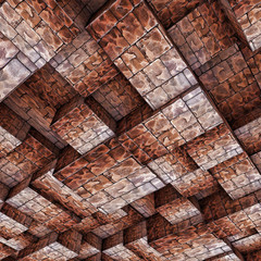 Abstract Ceiling Stone Construction