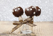 Chocolate cake pops decorated with sugar stars