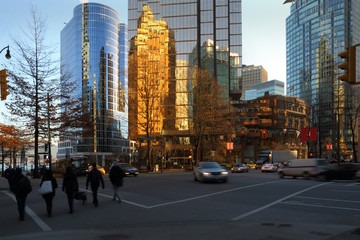 Vancouver Downtown Intersection