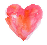Fototapety watercolor heart. Concept - love, relationship, art, painting