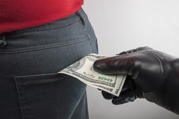thief robbing us dollars