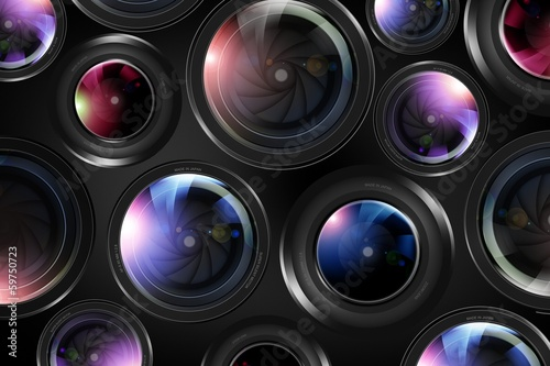 Camera Lenses Background