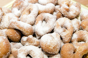 Doughnuts dusted with sugar