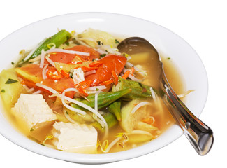 Delicious, hot Vietnamese sour soup