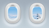 Fototapety two airplane or jet windows