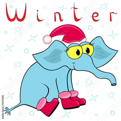 Why Elephant is so cold in winter?