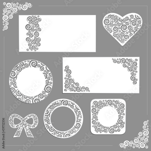 Vector ornament wedding kit
