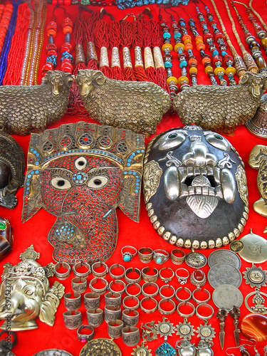 Shigatse, Tibetan masks on sale