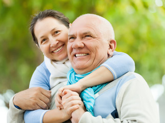 Portrait of сheerful mature couple together