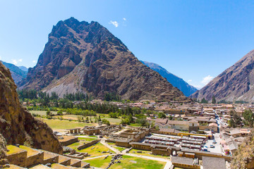 Ollantaytambo, Peru, Inca ruins  and archaeological site