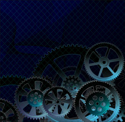 gears dark blue