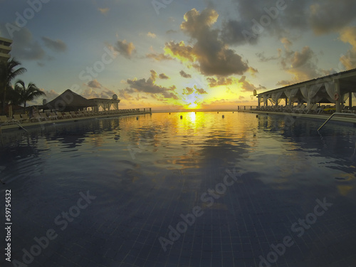 Endless Swimming Pool at Dawn