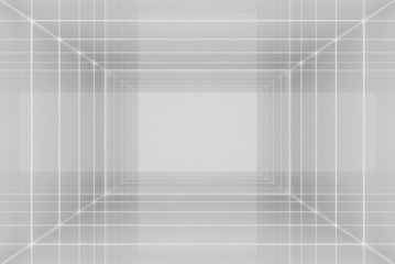 Empty room rendering (wireframe technique)