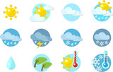 Weather Icons in flat design