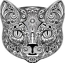 Cat. Czarno-biały