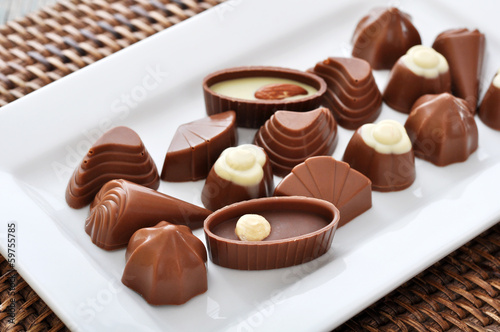 Assorted chocolate candies