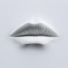 3D white female lips