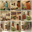 collection of pretty tuscan house doorways