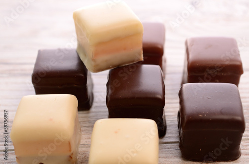 Chocolate dices