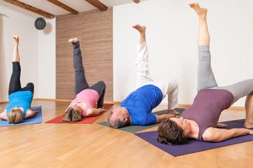 Yoga Exercise - Eka Pada Setu Bandha Sarvangasana