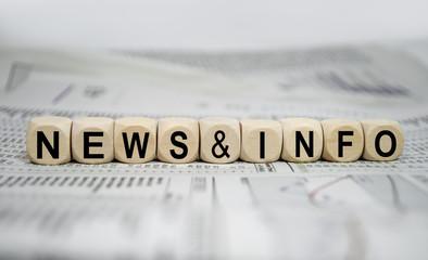 Würfel mit News und Info